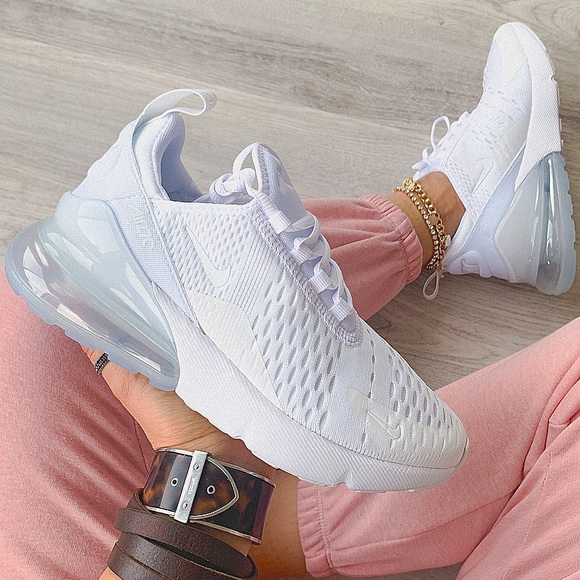 Nike air max 270 sneakers triple white NWT
